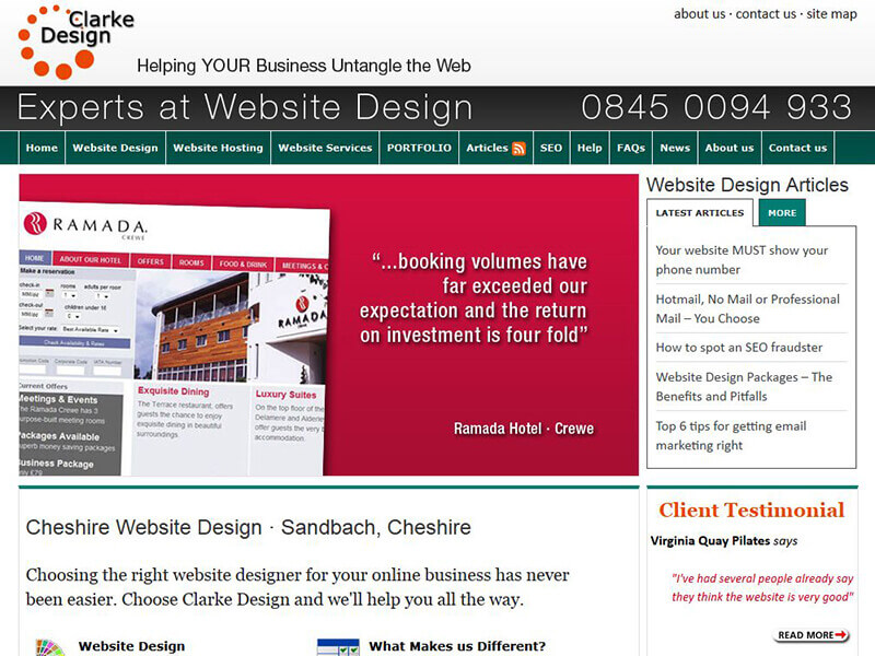 Clarke Website Design before