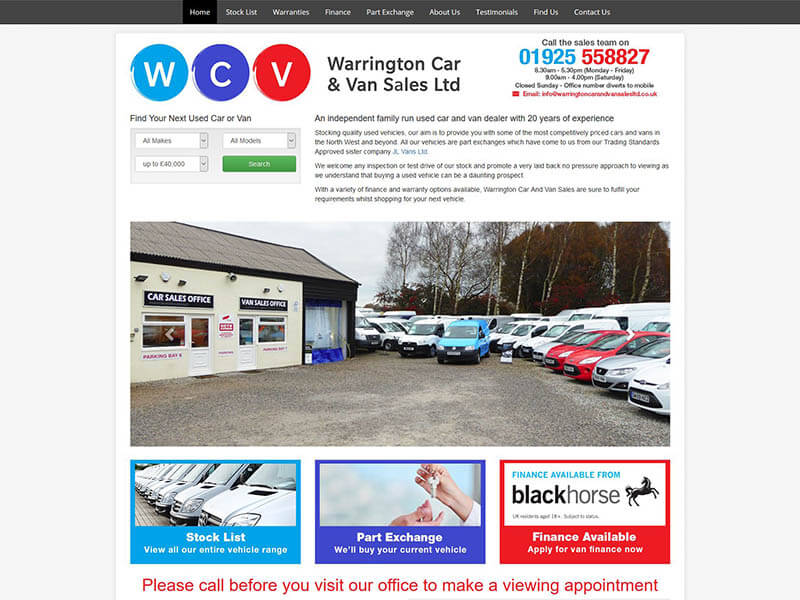 Warrington Car And Van Sales
